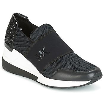 Sko Dame Lave sneakers MICHAEL Michael Kors FELIX TRAINER Sort