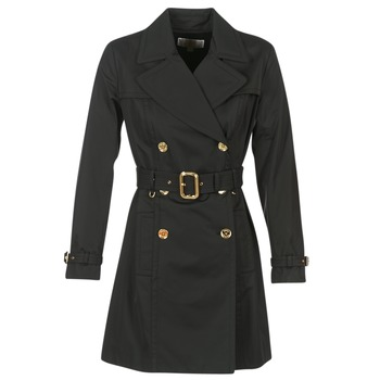 textil Dame Trenchcoats MICHAEL Michael Kors PLEATED TRENCH Sort