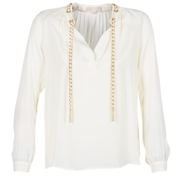 textil Dame Toppe / Bluser MICHAEL Michael Kors SLIT L/S CHAIN Fløde