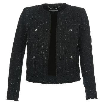 textil Dame Jakker / Blazere MICHAEL Michael Kors FRAY TWD 4PKT JKT Sort / Sølv