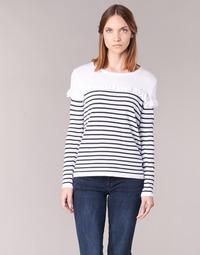 textil Dame Pullovere Betty London HOMI Marineblå / Hvid