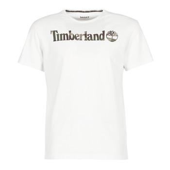 textil Herre T-shirts m. korte ærmer Timberland DUNSTAN RIVER CAMO PRINT Hvid