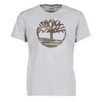 textil Herre T-shirts m. korte ærmer Timberland DUNSTAN RIVER CAMO PRINT Grå