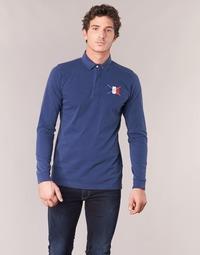 textil Herre Polo-t-shirts m. lange ærmer Serge Blanco POCHON Marineblå