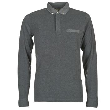 textil Herre Polo-t-shirts m. lange ærmer Serge Blanco POCHA Sort / Grå