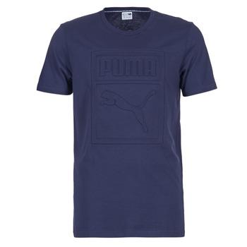 textil Herre T-shirts m. korte ærmer Puma ARCHIVE EMBOSSED LOGO TEE Marineblå