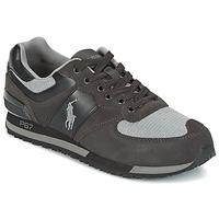 Sko Herre Lave sneakers Ralph Lauren SLATON PONY Sort / Grå