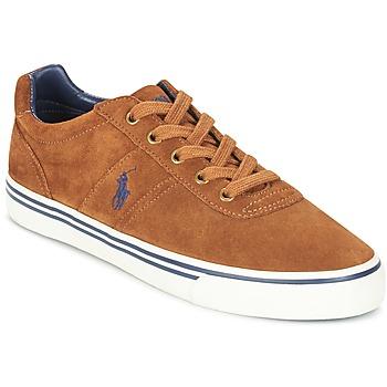 Sko Herre Lave sneakers Ralph Lauren HANFORD COGNAC