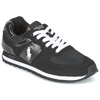 Sko Herre Lave sneakers Ralph Lauren SLATON PONY Sort