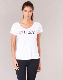 textil Dame T-shirts m. korte ærmer Only Play LINDA Hvid