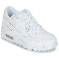 Sko Børn Lave sneakers Nike AIR MAX 90 LEATHER PRE-SCHOOL Hvid
