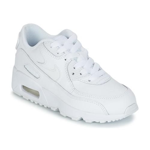 ec743041c3ae Sko Børn Lave sneakers Nike AIR MAX 90 LEATHER PRE-SCHOOL Hvid