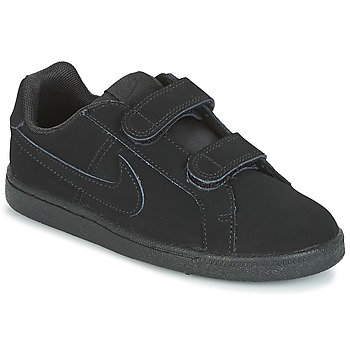 Sko Dreng Lave sneakers Nike COURT ROYALE PRE-SCHOOL Sort