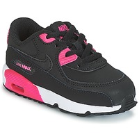 Sko Pige Lave sneakers Nike AIR MAX 90 LEATHER TODDLER Sort / Pink