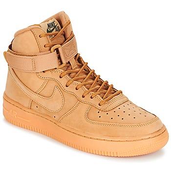 Sko Børn Høje sneakers Nike AIR FORCE 1 HIGH WB GRADE SCHOOL Honning