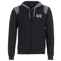 textil Herre Sweatshirts Emporio Armani EA7 TRAIN TRITONAL M HOODIE FZ Sort