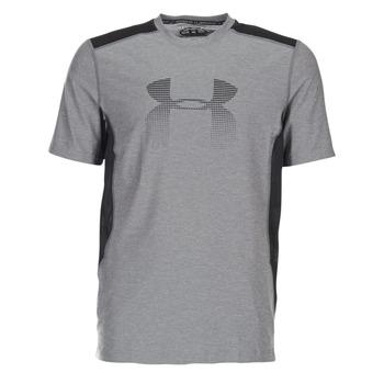 textil Herre T-shirts m. korte ærmer Under Armour UA RAID GRAPHIC SS Grå / Sort