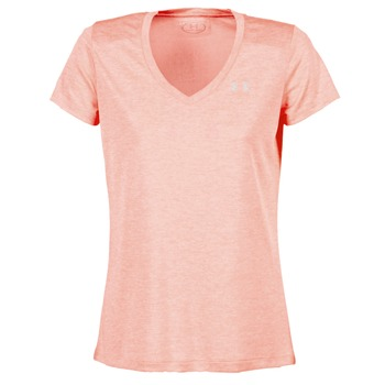 textil Dame T-shirts m. korte ærmer Under Armour TECH SSV - TWIST Koral