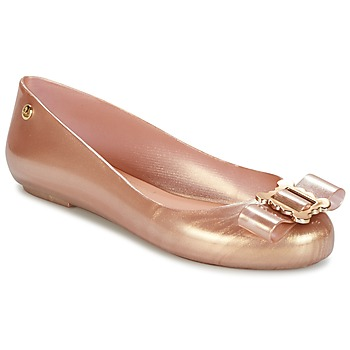 Sko Dame Ballerinaer Melissa VW SPACE LOVE 18 ROSE GOLD BUCKLE Pink / Guld