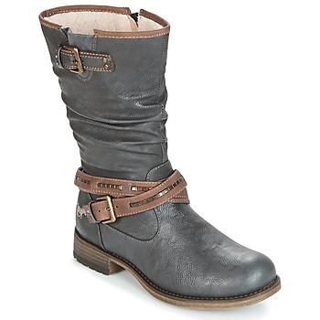 Sko Dame Chikke støvler Mustang ISALBA Grå