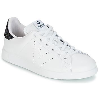 Sko Dame Lave sneakers Victoria DEPORTIVO BASKET PIEL Hvid / Blå