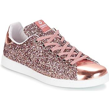 Sko Dame Lave sneakers Victoria DEPORTIVO BASKET GLITTER Pink