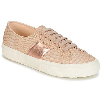 Sko Dame Lave sneakers Superga 2750 PU SNAKE W Beige