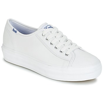 Sko Dame Lave sneakers Keds TRIPLE KICK CORE LEATHER Hvid