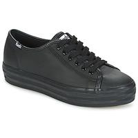 Sko Dame Lave sneakers Keds TRIPLE KICK CORE LEATHER Sort