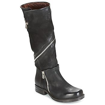Sko Dame Chikke støvler Airstep / A.S.98 SAINT EC ZIP Sort