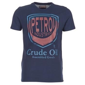 textil Herre T-shirts m. korte ærmer Petrol Industries TIRCO Marineblå