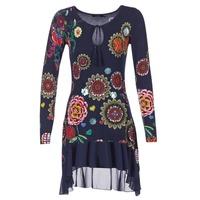 textil Dame Korte kjoler Desigual GRUFI Blå