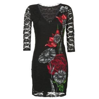 textil Dame Korte kjoler Desigual GRAFE Sort