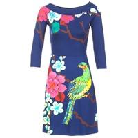 textil Dame Korte kjoler Desigual MARTA Blå