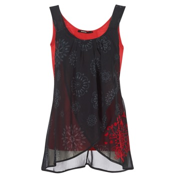 textil Dame Toppe / T-shirts uden ærmer Desigual MEGEC Sort / Rød