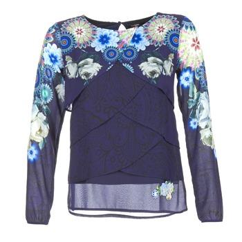 textil Dame Toppe / Bluser Desigual TAMA Blå