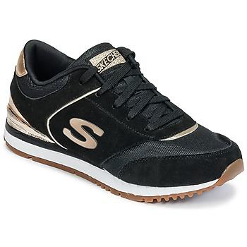 Sko Dame Lave sneakers Skechers SUNLITE Sort / Gylden