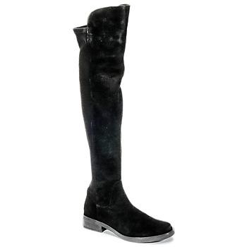 Sko Dame Lårhøje støvler Buffalo NUPAN Sort