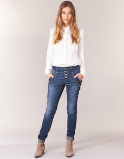 textil Dame Lige jeans Cream NYNNE JEANS BAILEY FIT Blå