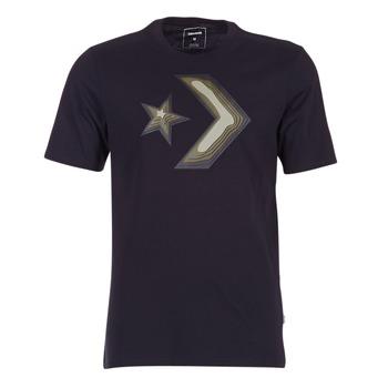 textil Herre T-shirts m. korte ærmer Converse DIMENSIONAL LAYER STAR CHEVRON TEE Sort