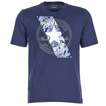 textil Herre T-shirts m. korte ærmer Converse CHUCKPATCH CONTRAST SLASH TEE Marineblå