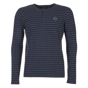 textil Herre Langærmede T-shirts Le Temps des Cerises ROGER Marineblå