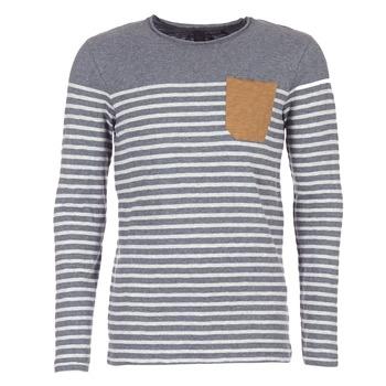 textil Herre Langærmede T-shirts Le Temps des Cerises VINCENT Grå