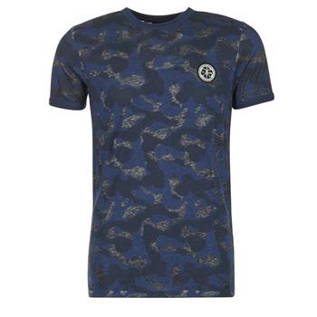 textil Herre T-shirts m. korte ærmer Le Temps des Cerises CAMOSTORK Marineblå