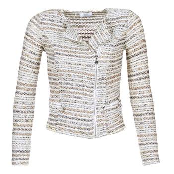 textil Dame Jakker / Blazere Le Temps des Cerises MIRABEAU Beige / Hvid