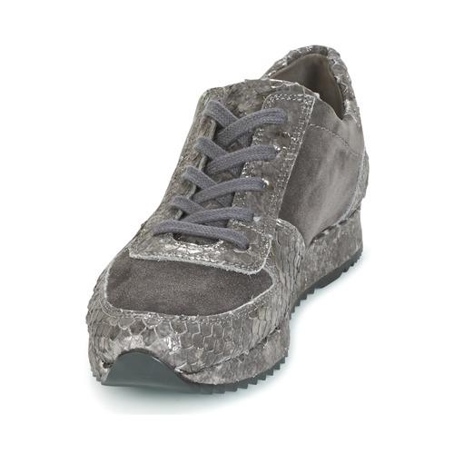 TINA  Perlato  lave sneakers  dame  grå MOsMZ