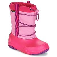 Sko Pige Vinterstøvler Crocs Swiftwater waterproof boot Party / Pink