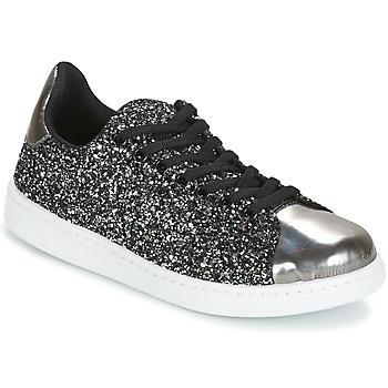 Sko Dame Lave sneakers Yurban HELVINE Grå / Glitter