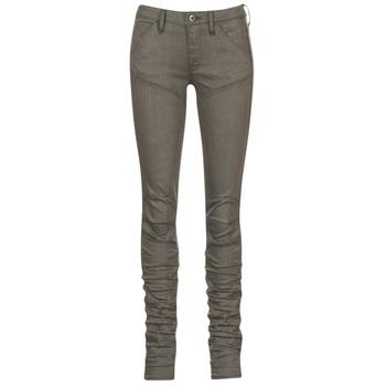 textil Dame Jeans - skinny G-Star Raw 5620 STAQ 3D MID SKINNY COJ WMN Kaki