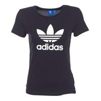 textil Dame T-shirts m. korte ærmer adidas Originals TREFOIL TEE Sort